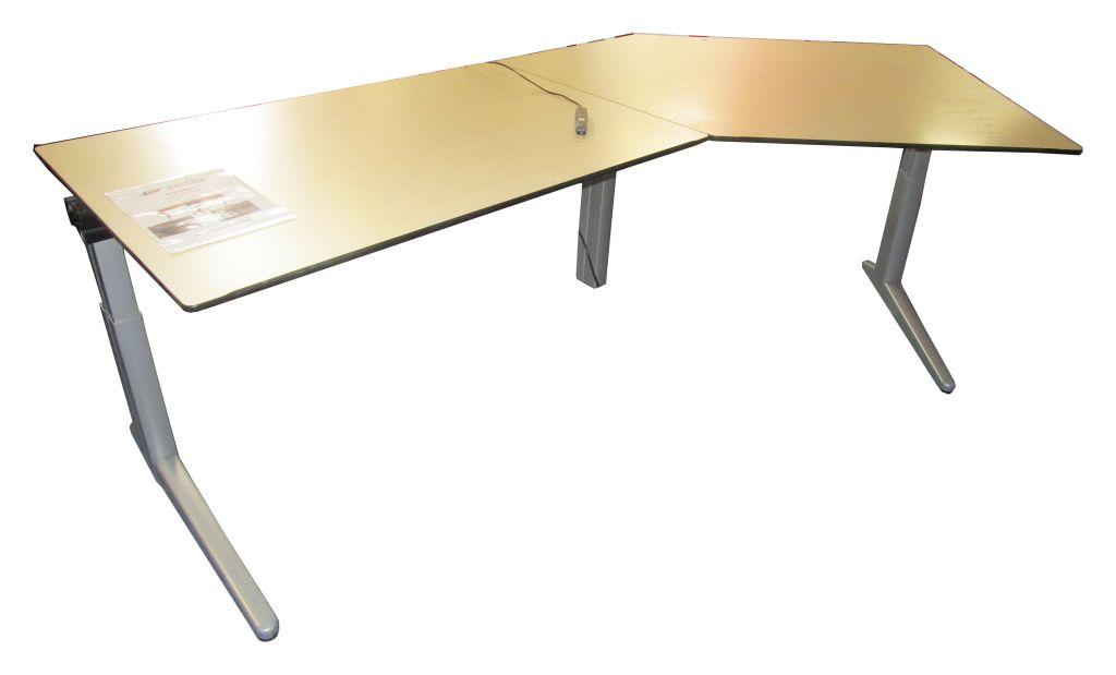 1x schreibtisch elektrisch h henverstellbar ca 2500x1200mm gebraucht 4061235002623 ebay. Black Bedroom Furniture Sets. Home Design Ideas